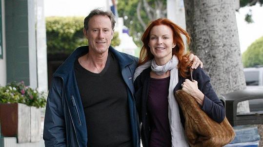 Marcia Cross s manželem Tomem Mahoneym