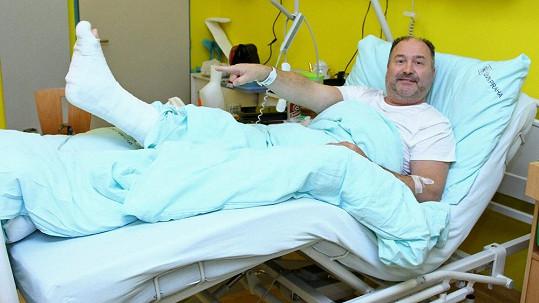 Michal David v nemocnici