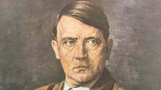 Adolf Hitler bez knírku.