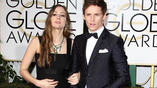 Eddie Redmayne s manželkou Hannah Baghshawe