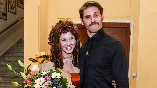 Denisa Nesvačilová s přítelem Honzou Melíškem