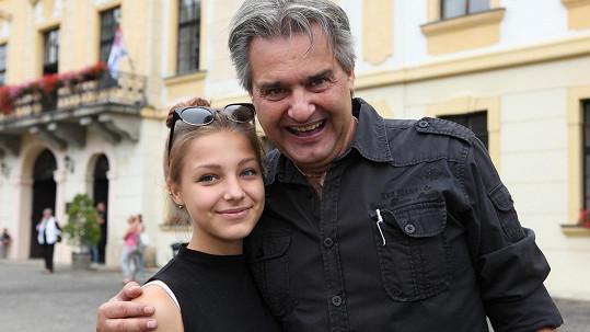 Slávek Boura s dcerou Agátou
