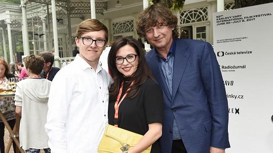 Dana s manželem Petrem Maláskem a synem Péťou