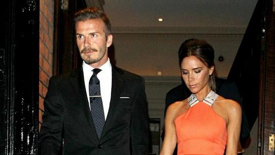 David Beckham a Victoria Beckham.