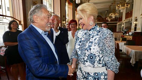 Karel Gott a Ivana Trump