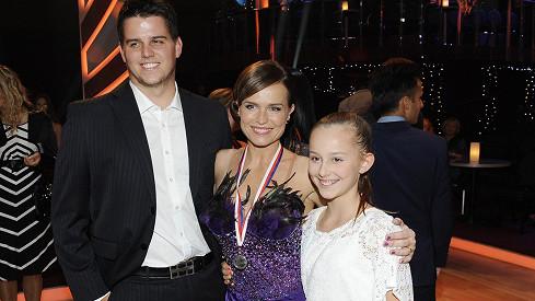 Olga Šípková se synem Michalem a dcerou Adélkou