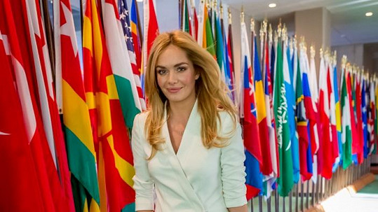 Táňa Kuchařová v sídle OSN