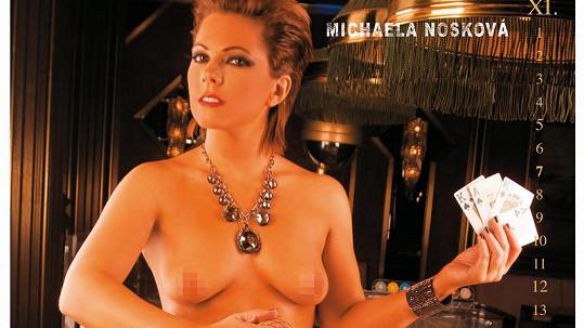 Míša Nosková se jednou fotila nahá.