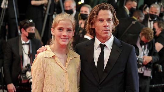 Danny Moder s dcerou Hazel
