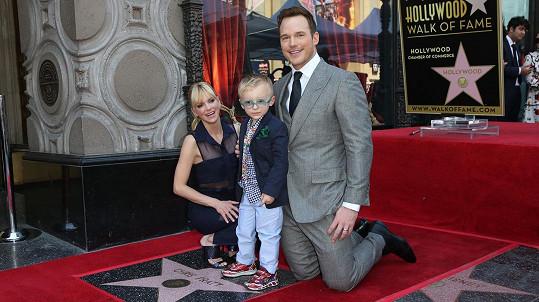 Anna Faris a Chris Pratt se synem Jackem