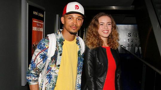 Anna Dvořáková s Benem Cristovaem na premiéře filmu Backstage
