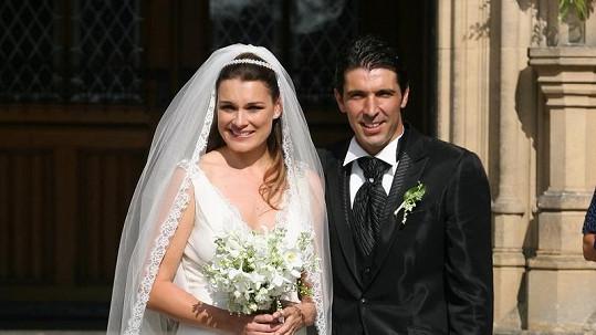 Novomanželé Alena Šeredová a Gigi Buffon