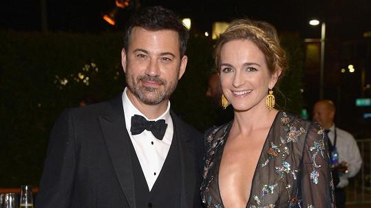 Jimmy Kimmel má dva velké důvody k radosti.