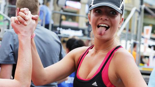 Táňa trhla svůj osobní rekord v běhu na pět kilometrů.