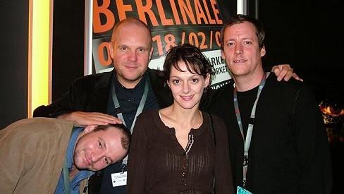 Marek Taclík, režisér David Ondříček, Klára Issová a producent Kryštof Mucha byli po prvním uvedení Grandhotelu na Berlinale spokojení.
