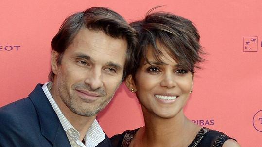 Halle Berry s manželem Olivierem Martinezem.