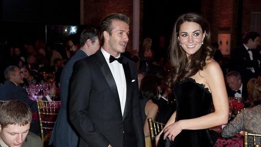 David Beckham s nastávající maminkou Kate Middleton