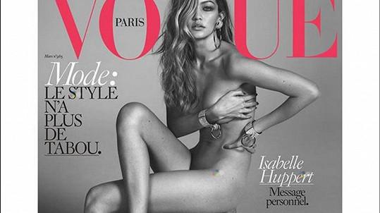Titulní stranu magazínu Vogue ozdobila Gigi Hadid.