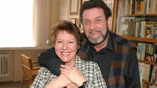 Miloš Hlavica s manželkou Růženou Merunkovou