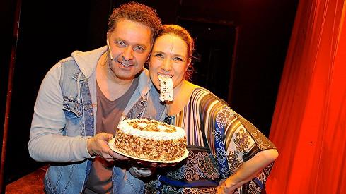 Martin Dejdar a Tereza Kostková na oslavě narozenin