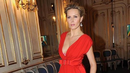 Simona Krainová na módní show The best of Valentino.