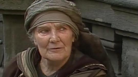Jiřina Štěpničková v televizním zpracování Nerudovy povídky Přivedla žebráka na mizinu (1984)