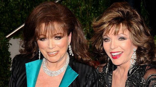 Jackie (vlevo) a Joan Collins
