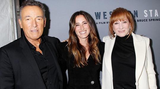 Bruce Springsteen s manželkou Patti a dcerou Jessicou
