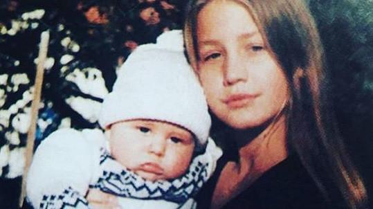 Agáta Prachařová s malým Vincentem