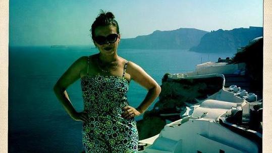 Dana Morávková trávila letošní dovolenou na Santorini.