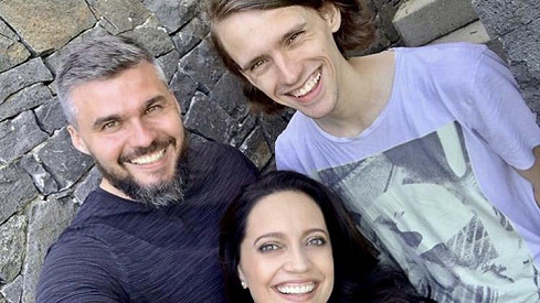 Lucie Bílá s partnerem Radkem a synem Filipem