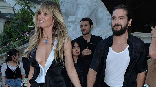 Heidi Klum se snoubencem Tomem Kaulitzem v Paříži