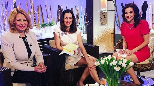 Stáňa Lekešová, Lucie Křížková a Radka Rosická v pondělním díle Sama doma