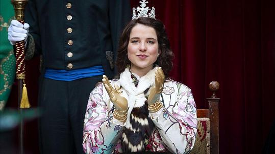 Leonie Brill jako princezna Amálka v pohádce O vánoční hvězdě