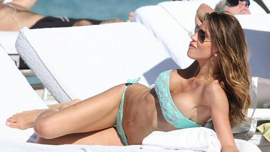 Modelka Claudia Galanti na Miami.