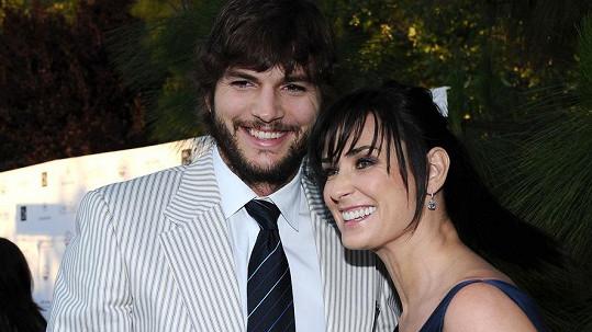 Demi Moore s bývalým manželem Ashtonem Kutcherem