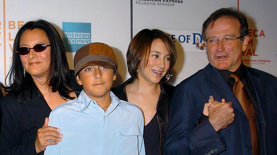 Robin Williams s rodinou