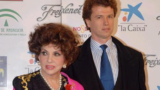 Gina Lollobrigida s Javierem Rigauem y Rafolsem