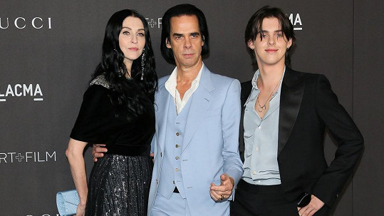 Nick Cave s manželkou Susie Bick a synem Earlem