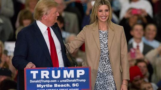 Donald Trump má ve své dceři Ivance obrovskou podporu.