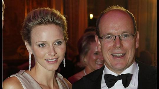 Kněžna Charlène s manželem Albertem II.