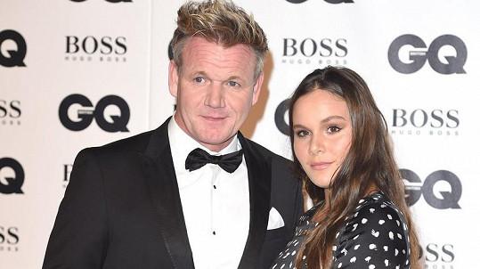 Holly Ramsay se slavným otcem Gordonem