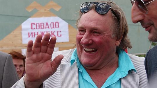 Gérard Depardieu už je v Rusku jako doma.