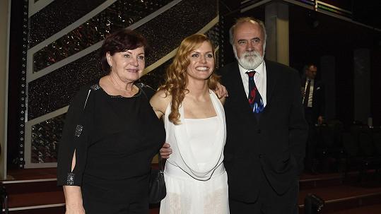 Gabriela Koukalová s rodiči