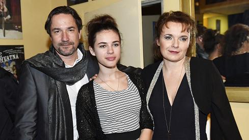 Bára Munzarová s přítelem Martinem Trnavským a dcerou Aničkou
