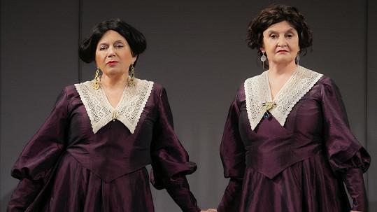 Eva Holubová se bude ve hře Revizor v roli Anny Andrejevny alternovat se Zuzanou Kronerovou (vlevo)