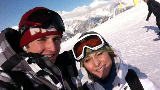 Jakub Štáfek s přítelkyní Magdou v italských Dolomitech.