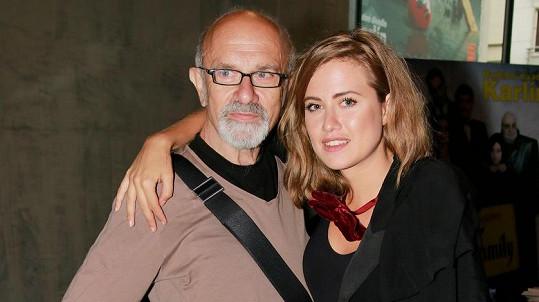 Emma Smetana se svým otcem Jiřím na fotce z roku 2015.