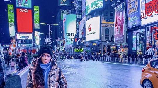 Nelly Řehořová si cestou do New Yorku splnila sen.