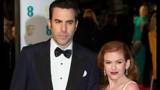 Sasha Baron Cohen s manželkou Islou Fisher